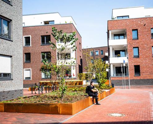 Paulsmuehlenquartier in Duesseldorf-Benrath