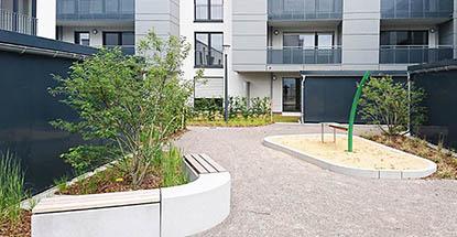 Wohnbebauung Koenigsberger Platz Leverkusen Rheindorf